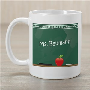Chalkboard Teacher Coffee Mug | Customizable Coffee Mugs