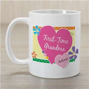 Personalized First-Time Grandma Mug | Customizable Coffee Mugs