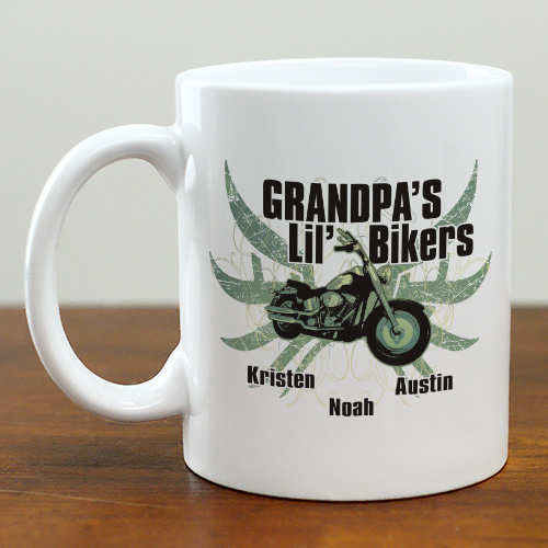 Personalized Motorcycle Coffee Mug | Personalized Grandpa Gifts