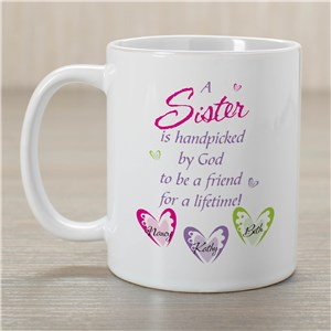 Personalized Sister Mug | Customizable Coffee Mugs