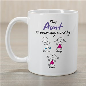 Personalized Especially Loved By Coffee Mug | Customizable Aunt Gifts