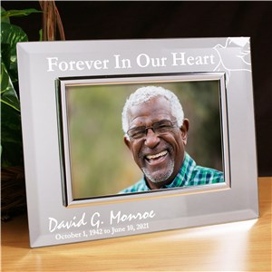 Forever In Our Hearts Memorial Mirror Picture Frame | Personalized Picture Frames