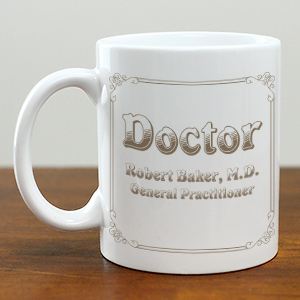 Personalized Doctor Coffee Mug