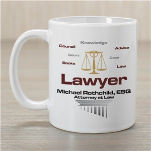 Personalized Lawyer Coffee Mug | Customizable Coffee Mugs