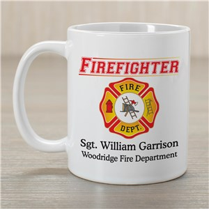 Personalized Firefighter Coffee Mug | Customizable Coffee Mugs