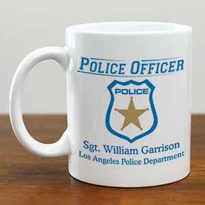 Personalized Police Officer Coffee Mug | Customizable Coffee Mugs