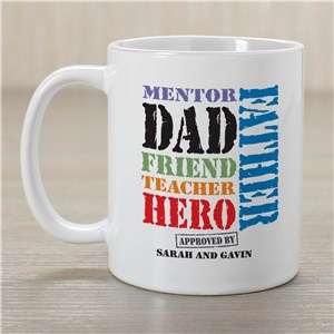 Dad, My Hero Father's Day Coffee Mug | Dad Mugs