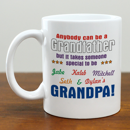 Personalized Grandfather Mug | Customizable Coffee Mugs