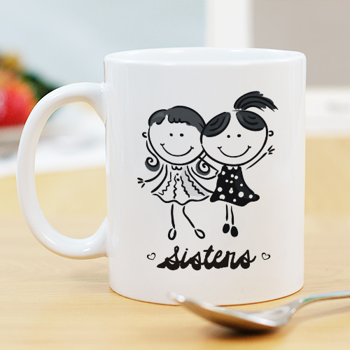 Sisters Ceramic Mug | Personalized Sister Gifts