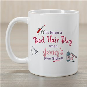Never A Bad Hair Day Coffee Mug | Customizable Coffee Mugs