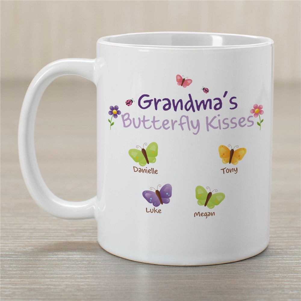 Butterfly Kisses Mug | Personalized Grandma Gifts