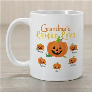 Pumpkin Patch Personalized White Coffee Mug