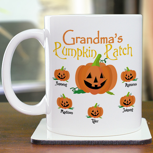Pumpkin Patch Personalized Coffee Mug | Customizable Coffee Mugs