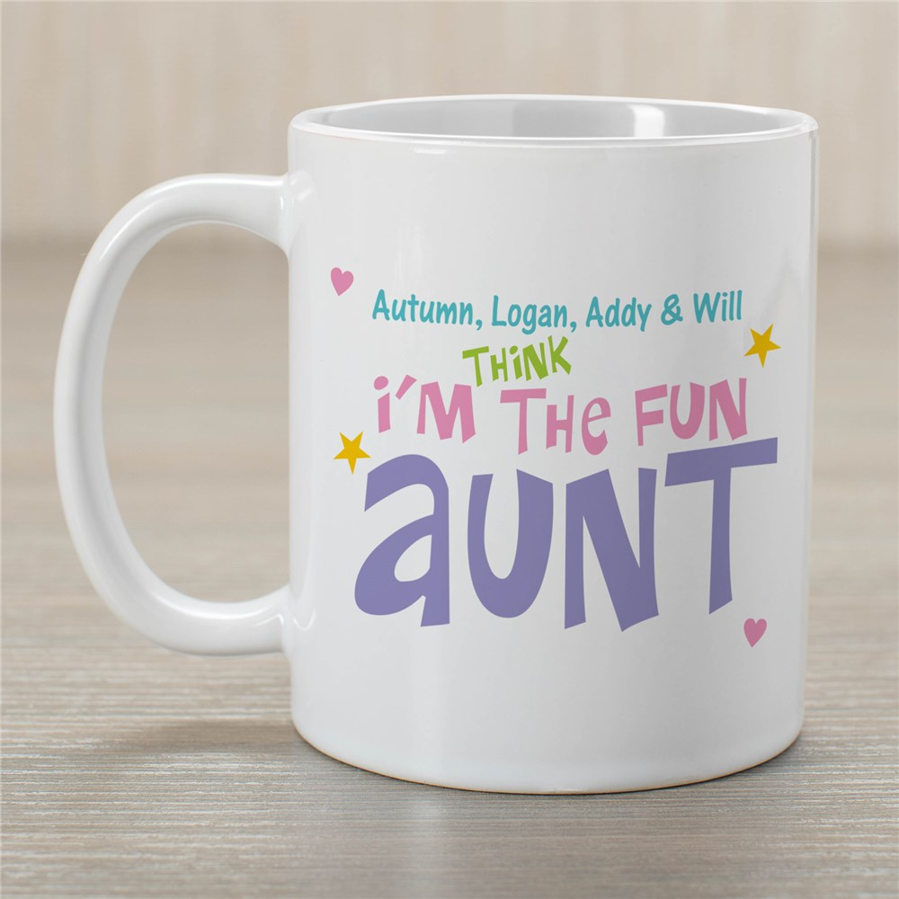 Personalized Fun Aunt Coffee Mug | Customizable Coffee Mugs