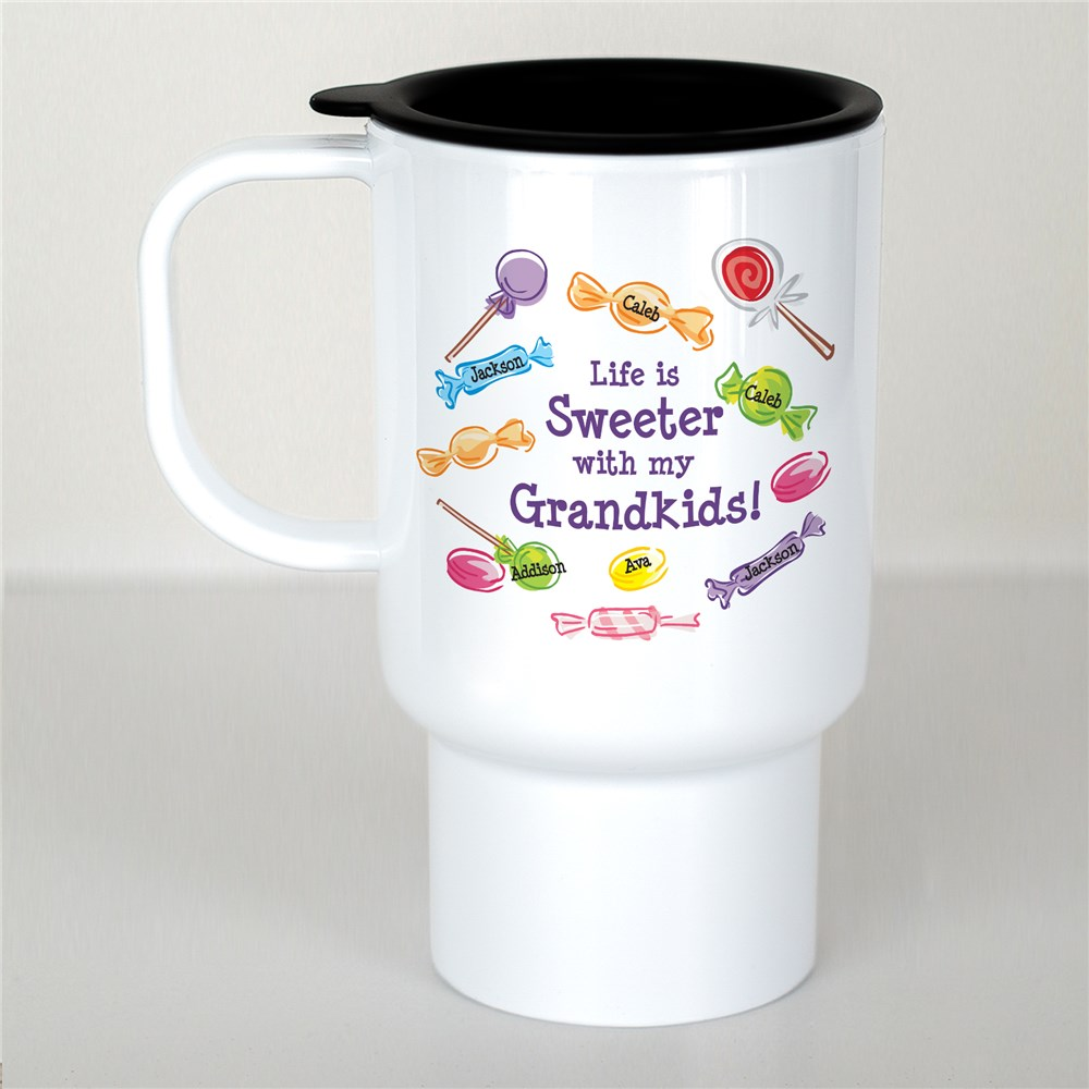 Personalized Life Is Sweeter Travel Mug | Personalized Travel Mugs