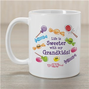 Life Is Sweeter Personalized Coffee Mug | Customizable Coffee Mugs