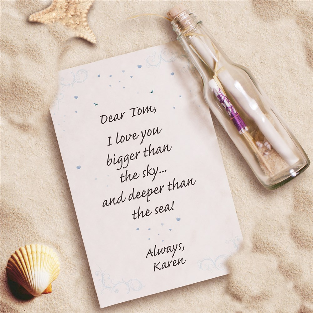 Personalized I Love You Message In A Bottle 239002
