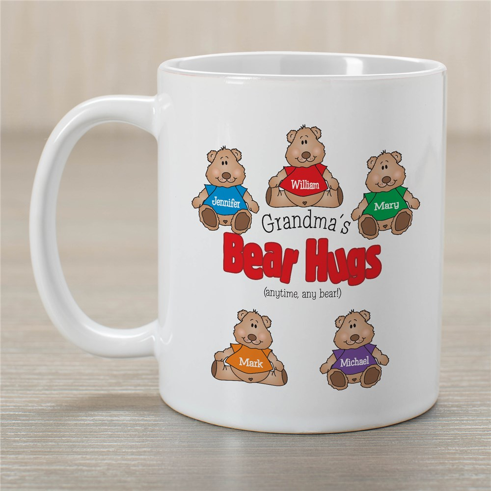 Bear Hugs Personalized Ceramic Coffee Mug | Customizable Coffee Mugs