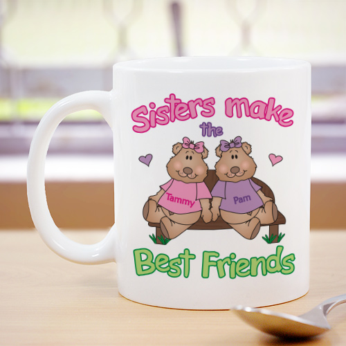 Sisters, Best Friends Coffee Mug | Customizable Coffee Mugs