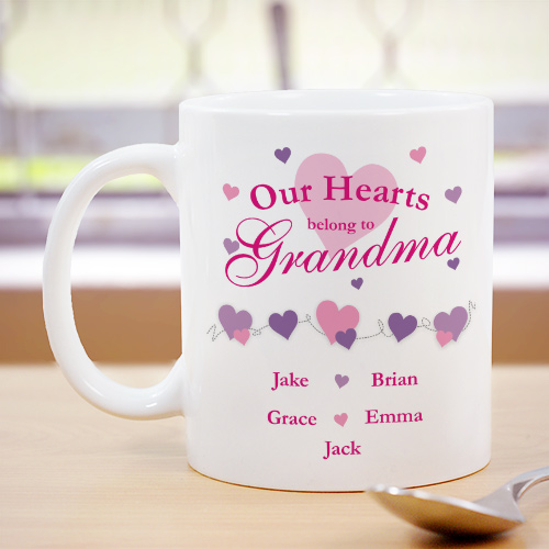 Our Hearts Personalized Coffee Mug | Customizable Coffee Mugs