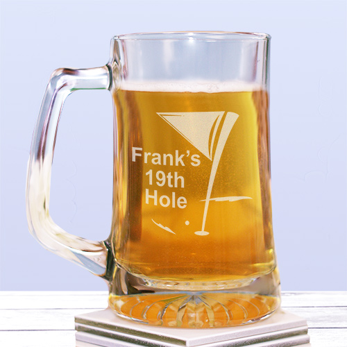 Engraved 19th Hole Glass Mug 242681