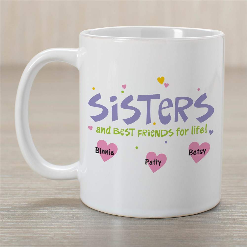 Personalized Best Friends for Life Coffee Mug | Customizable Coffee Mugs