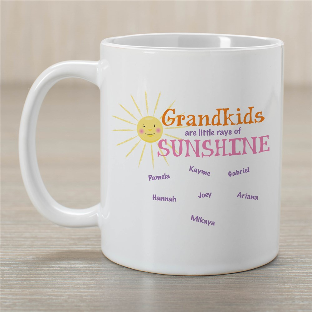 Personalized Little Rays of Sunshine Coffee Mug | Personalized Gifts For Grandma
