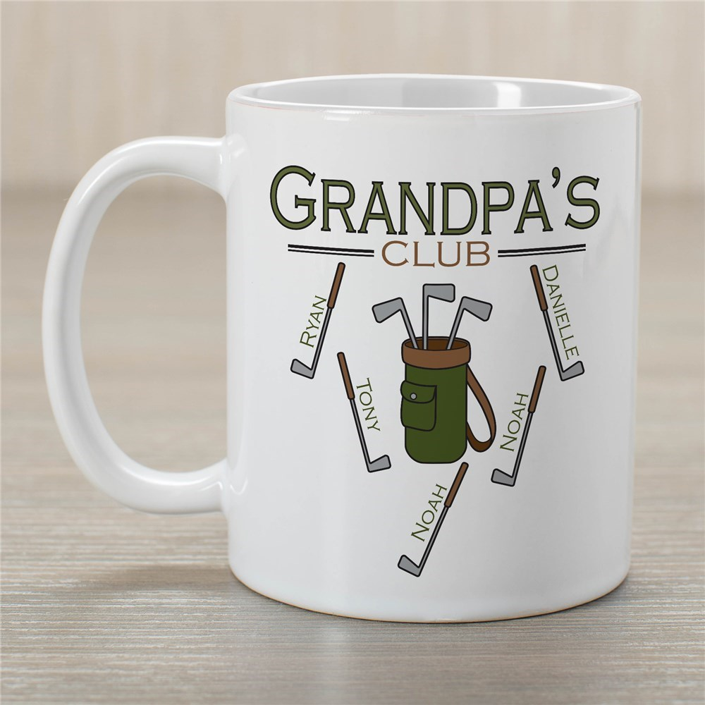 Personalized Golf Club Coffee Mug | Personalized Grandparents Gifts