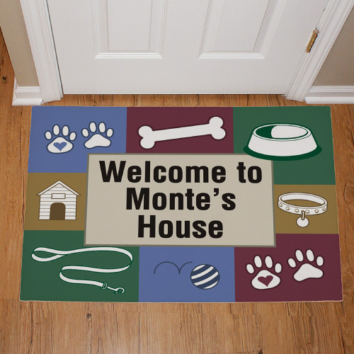 Doggy's House Personalized Pet Doormat