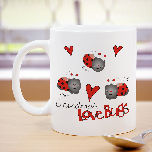 Love Lady Bugs Coffee Mug | Customizable Coffee Mugs