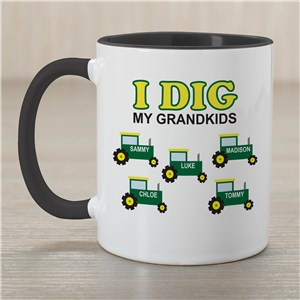 Personalized I Dig My Kids Coffee Mug | Customizable Coffee Mug