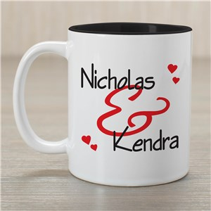 Personalized Couples Romantic Mug | Valentine's Day Mugs
