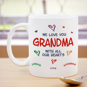 All Our Hearts Mug | Grandma Gifts