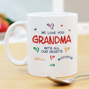 All Our Hearts Mug | Personalized Grandma Gifts