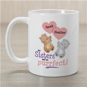 Purrfect Sister Coffee Mug | Customizable Coffee Mugs