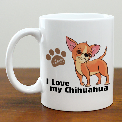 Personalized I Love My Chihuahua Mug | Customizable Coffee Mugs