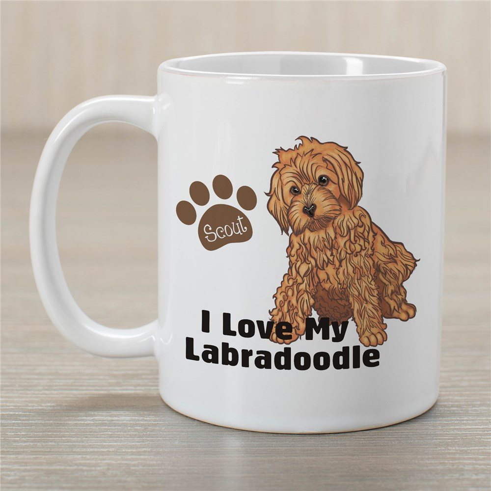 Personalized I Love My Labradoodle Mug | Customizable Coffee Mugs