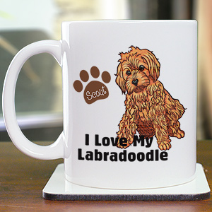 Personalized I Love My Labradoodle Mug 27070LD0X