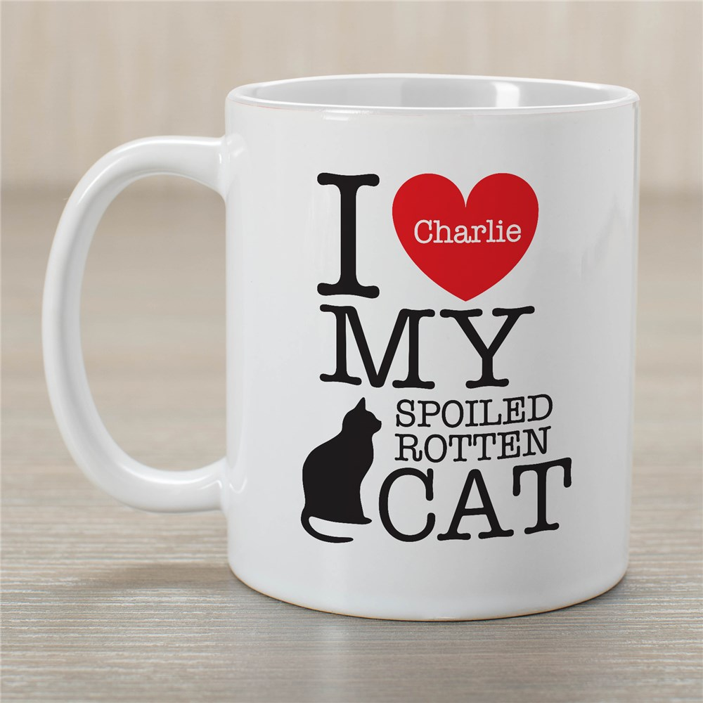 Personalized I Love My Spoiled Cat Mug |