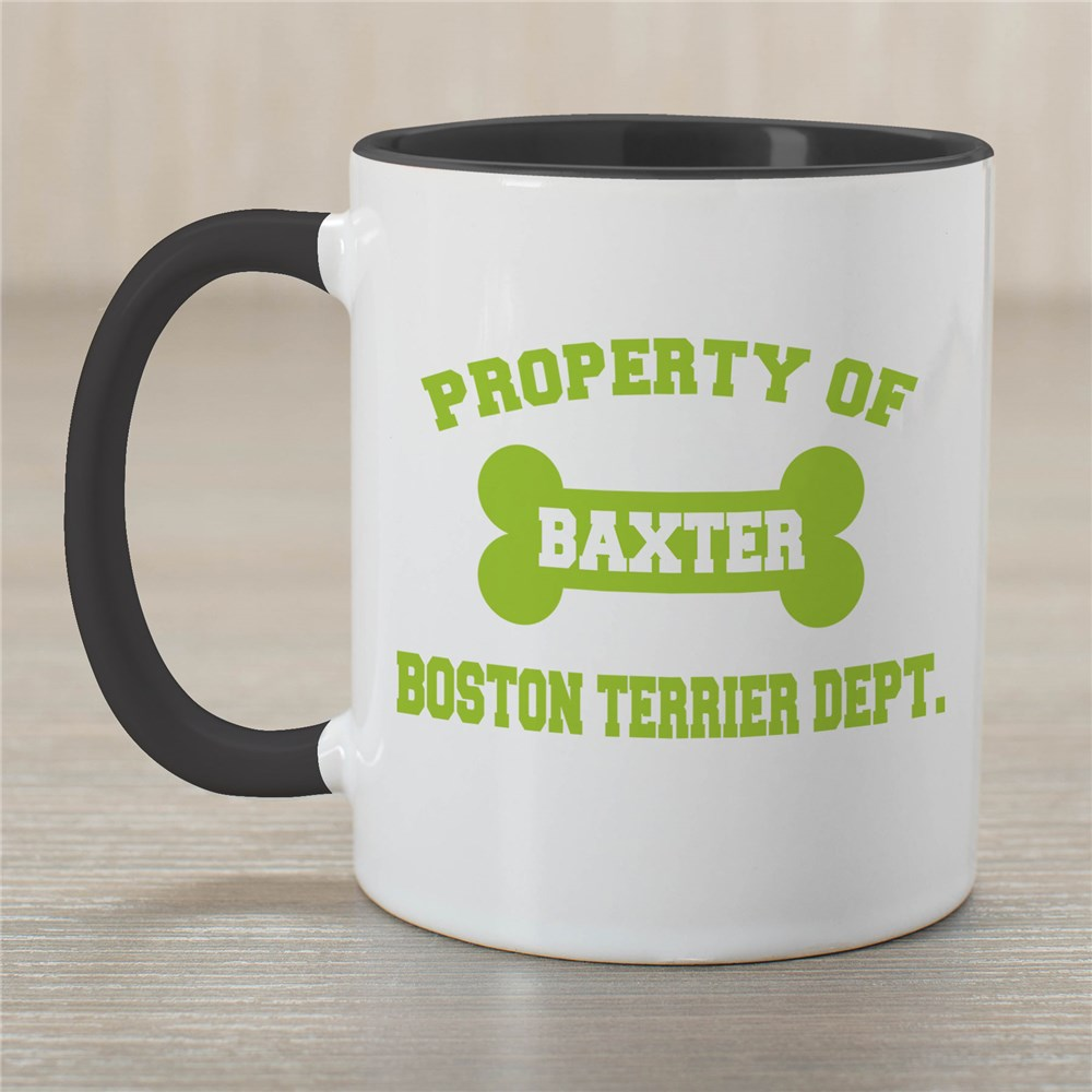 Personalized Property Of Dog Breed Mug | Customizable Coffee Mugs