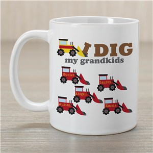 Personalized I Dig My Kids Mug | Custom Coffee Mug