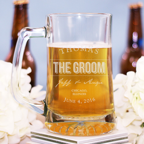 Engraved Groomsmen Glass Mug 276081
