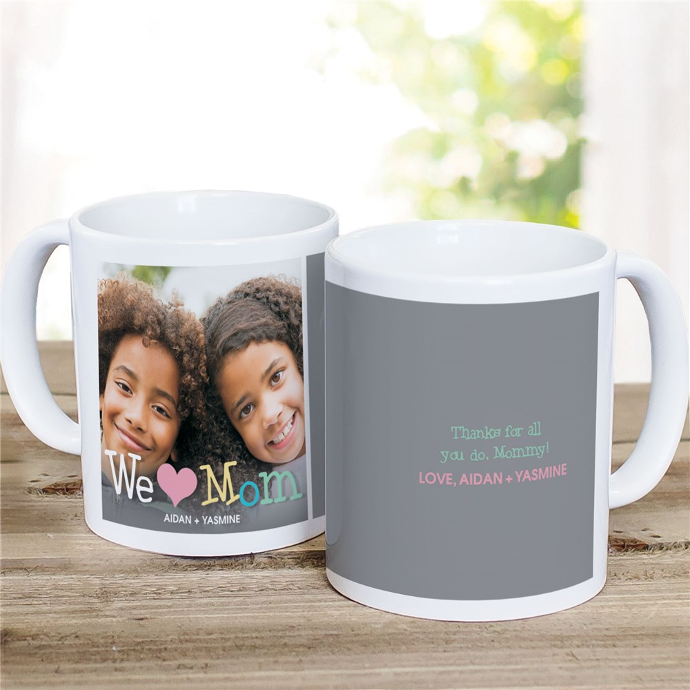 Personalized Love Mom Photo Mug | Customizable Coffee Mugs