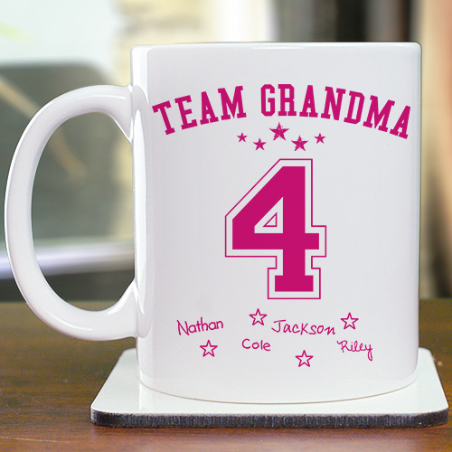 Personalized Team Mom Mug | Customizable Coffee Mugs