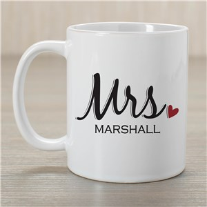 Personalized Mr. And Mrs. Mug | Customizable Coffee Mugs