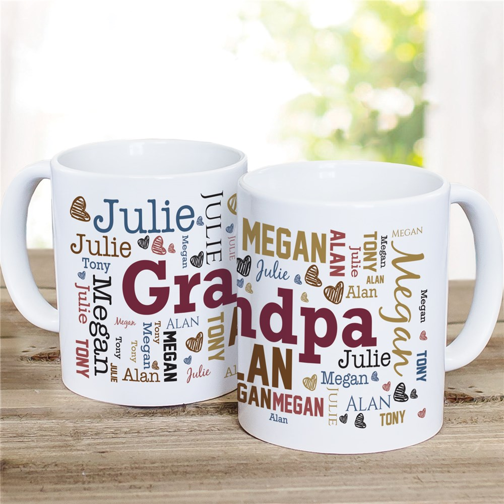 Father's Day Word-Art Coffee Mug | Personalized Coffee Mugs For Dad