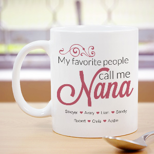 Personalized Nana Mug | Mother's Day Coffee Mug