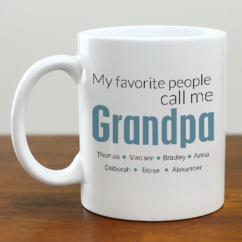 Favorite grandpa Personalized mug | Custom mug