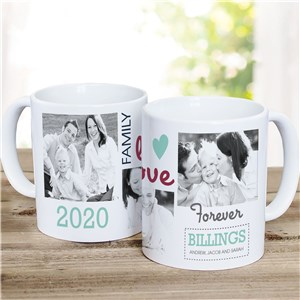 Family Photo Collage Personalized Mug | Customizable Coffee Mugs