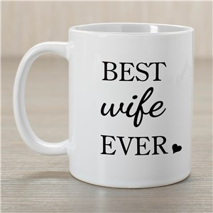 Personalized Best Ever Coffee Mug | Personalized Valentines Day Gifts For Her
